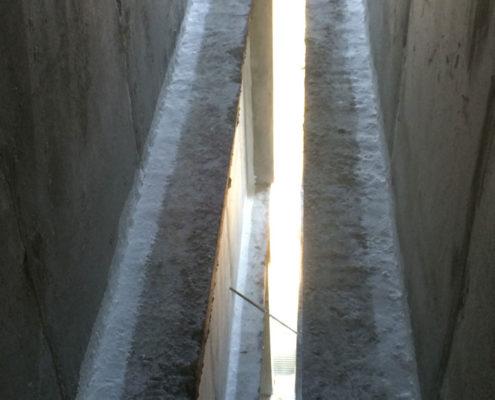 Утепление торца стен зданий между секциями (температурный шов)