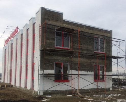 Утепление фасада офисного административного здания г.Краснодар